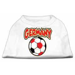 Mirage Pet Products Germany Soccer Screen Print Shirt White Lg (14)