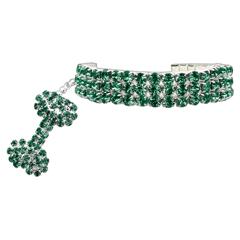 Mirage Pet Products Glamour Bits Pet Jewelry Emerald M (8-10)