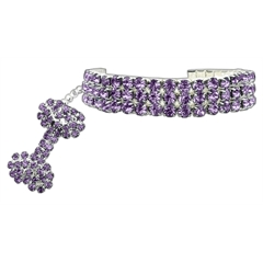 Mirage Pet Products Glamour Bits Pet Jewelry Purple L (10-12)