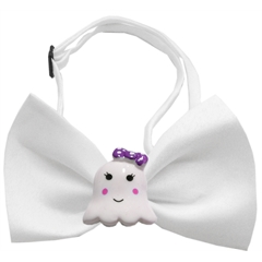 Mirage Pet Products Girly Ghost Chipper White Bow Tie