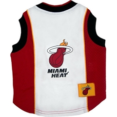 Mirage Pet Products Miami Heat Jersey Large