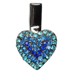 Mirage Pet Products Heart Clip Blue