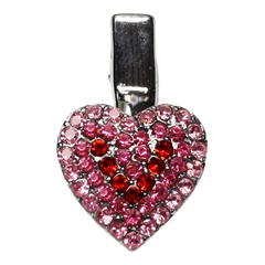Mirage Pet Products Heart Clip Pink