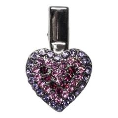 Mirage Pet Products Heart Clip Purple