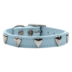 Mirage Pet Products Heart Leather Baby Blue 26