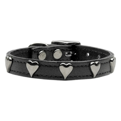 Mirage Pet Products Heart Leather Black 24