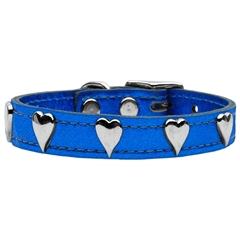 Mirage Pet Products Metallic Heart Leather Blue MTL 24