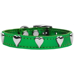 Mirage Pet Products Metallic Heart Leather Emerald Green MTL 24