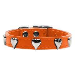 Mirage Pet Products Heart Leather Orange 18