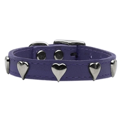 Mirage Pet Products Heart Leather Purple 20