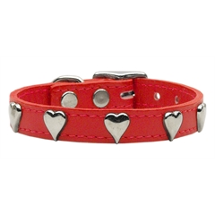Mirage Pet Products Heart Leather Red 12