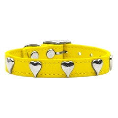 Mirage Pet Products Heart Leather Yellow 10