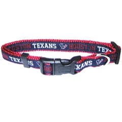 Mirage Pet Products Houston Texans Collar Medium