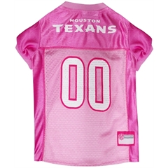 Mirage Pet Products Houston Texans Pink Jersey MD