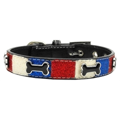 Mirage Pet Products Patriotic Ice Cream Collars Bones Large