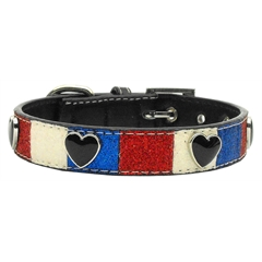 Mirage Pet Products Patriotic Ice Cream Collars Hearts Small