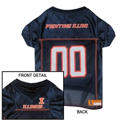 Mirage Pet Products Illinois Fighting Illini Jersey Large