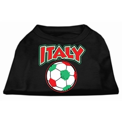 Mirage Pet Products Italy Soccer Screen Print Shirt Black XXXL (20)
