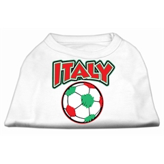 Mirage Pet Products Italy Soccer Screen Print Shirt White 6x (26)