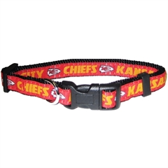 Mirage Pet Products Kansas City Chiefs Collar Large