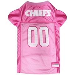 Mirage Pet Products Kansas City Chiefs Pink Jersey SM