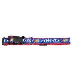 Mirage Pet Products Kansas Jayhawks Collar Large