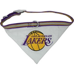 Mirage Pet Products LA Lakers Bandana Collar Large