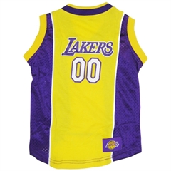 Mirage Pet Products LA Lakers Jersey Large