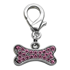 Mirage Pet Products Lobster Claw Bone Charm Pink