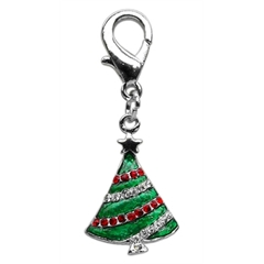 Mirage Pet Products Holiday lobster claw charms / zipper pulls Christmas Tree .