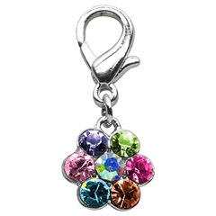 Mirage Pet Products Lobster Claw Flower Charm Multi Color