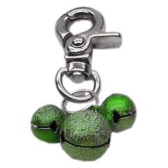 Mirage Pet Products Lobster Claw Bell Charm Emerald Green .