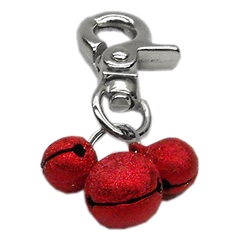Mirage Pet Products Lobster Claw Bell Charm Red .