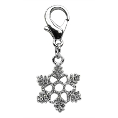 Mirage Pet Products Holiday lobster claw charms / zipper pulls Snowflake .