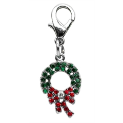 Mirage Pet Products Holiday lobster claw charms / zipper pulls Wreath .