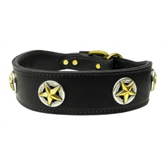 Mirage Pet Products Lone Star Leather Black 28