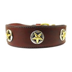Mirage Pet Products Lone Star Leather Burgundy 26