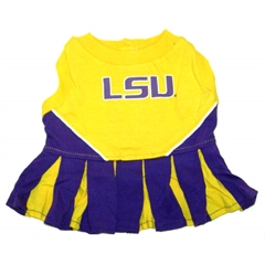 Mirage Pet Products LSU Tigers Cheer Leading XS
