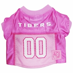 Mirage Pet Products LSU Tigers Pink Jersey LG
