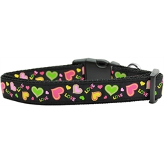 Mirage Pet Products Neon Love Nylon Dog Collars Medium
