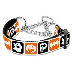 Mirage Pet Products Classic Halloween Nylon Ribbon Collar Martingale Large