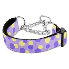 Mirage Pet Products Confetti Dots Nylon Collar Martingale Lavender Medium