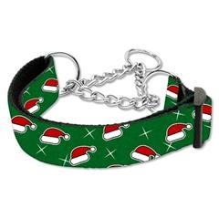 Mirage Pet Products Santa Hats Nylon Ribbon Collar Martingale Large