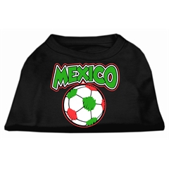 Mirage Pet Products Mexico Soccer Screen Print Shirt Black Lg (14)
