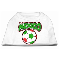 Mirage Pet Products Mexico Soccer Screen Print Shirt White Lg (14)
