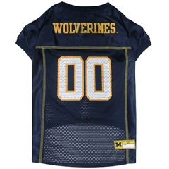 Mirage Pet Products Michigan Wolverines Jersey Large