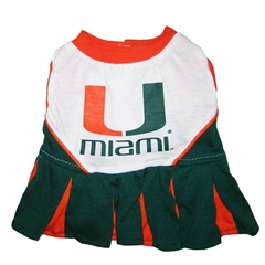 Mirage Pet Products Miami Hurricanes Cheer Leading XS
