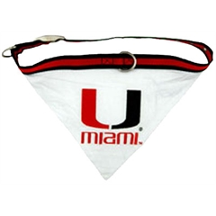 Mirage Pet Products Miami Hurricanes Bandana Medium