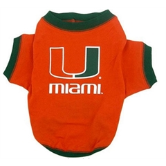 Mirage Pet Products Miami Hurricanes Shirt Small