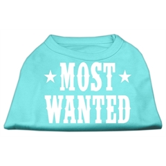 Mirage Pet Products Most Wanted Screen Print Shirt Aqua Med (12)